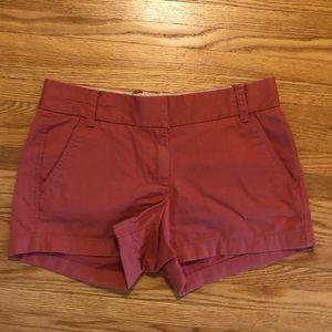 J. Crew Rose Chino Shorts